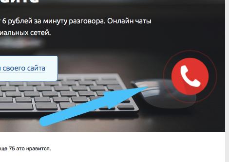Пример кнопки leadback на примере сайта gookit.com