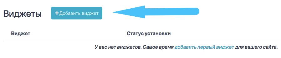Кнопка добавить виджет